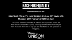 Race for Equality logo giving details of the event