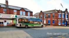 Single-decker bus in Manchester