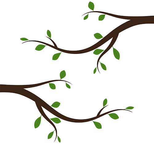 simple graphic image of tree branches withl leaves