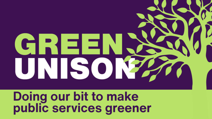 Green UNISON logo with a graphic tree