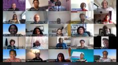 screenshot of the National Black Members' Committee in one of their teams meetings