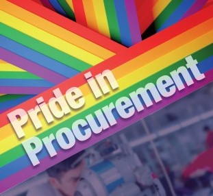 Cover image of booklet reads Pride in Procurement