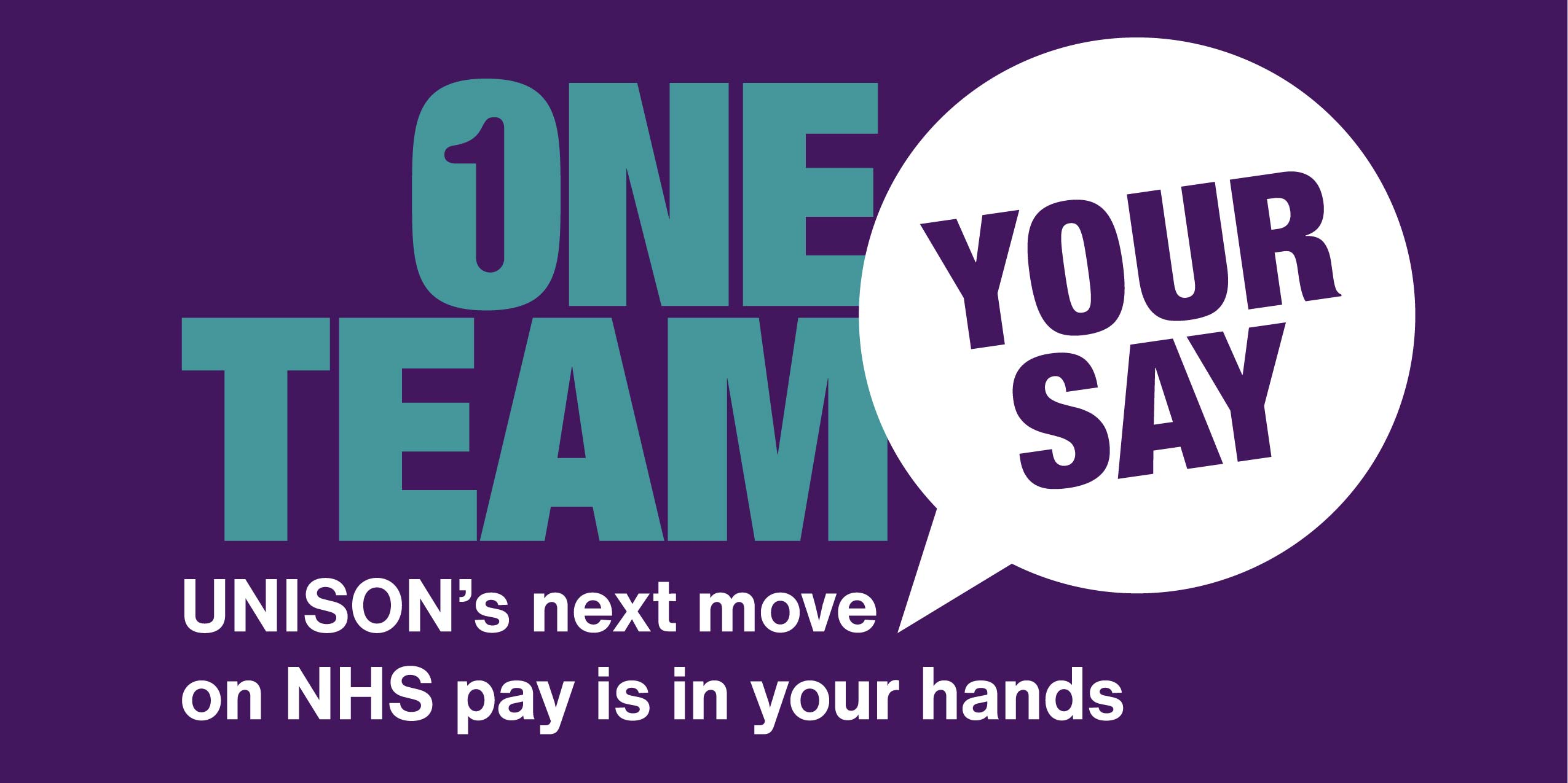 One Team your say, UNISON's next move on NHS pay is in your hands