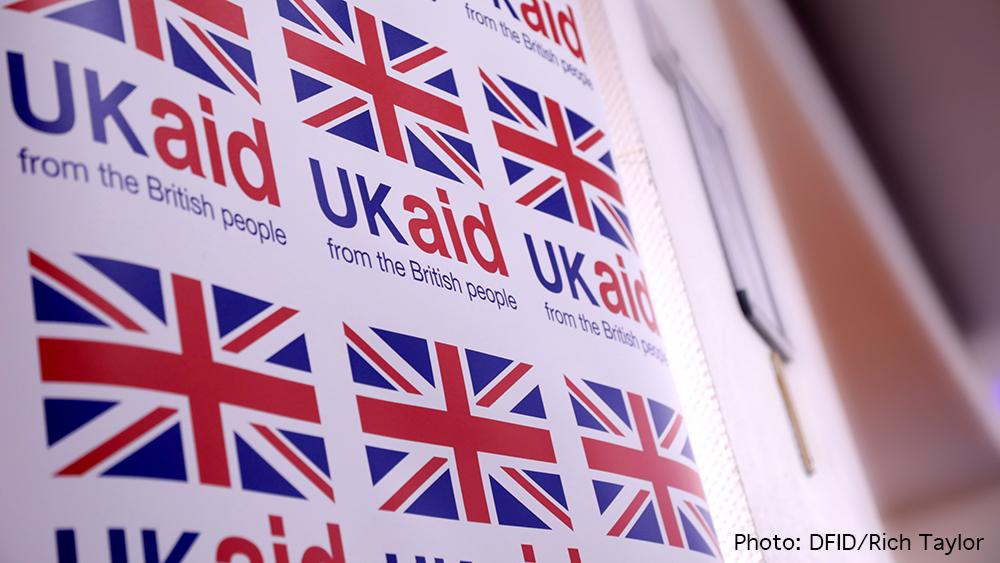 UK aid branding