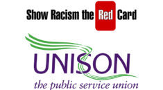 Logos of UNISON and Show Racism the Red Card