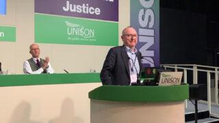 Jon Richards addressing conference