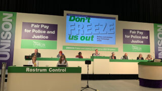 Police and justice conference platform and rostrum