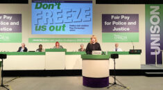 Sarah Jones MP, Labour shadow minister for police, addressing UNISON police and justice conference